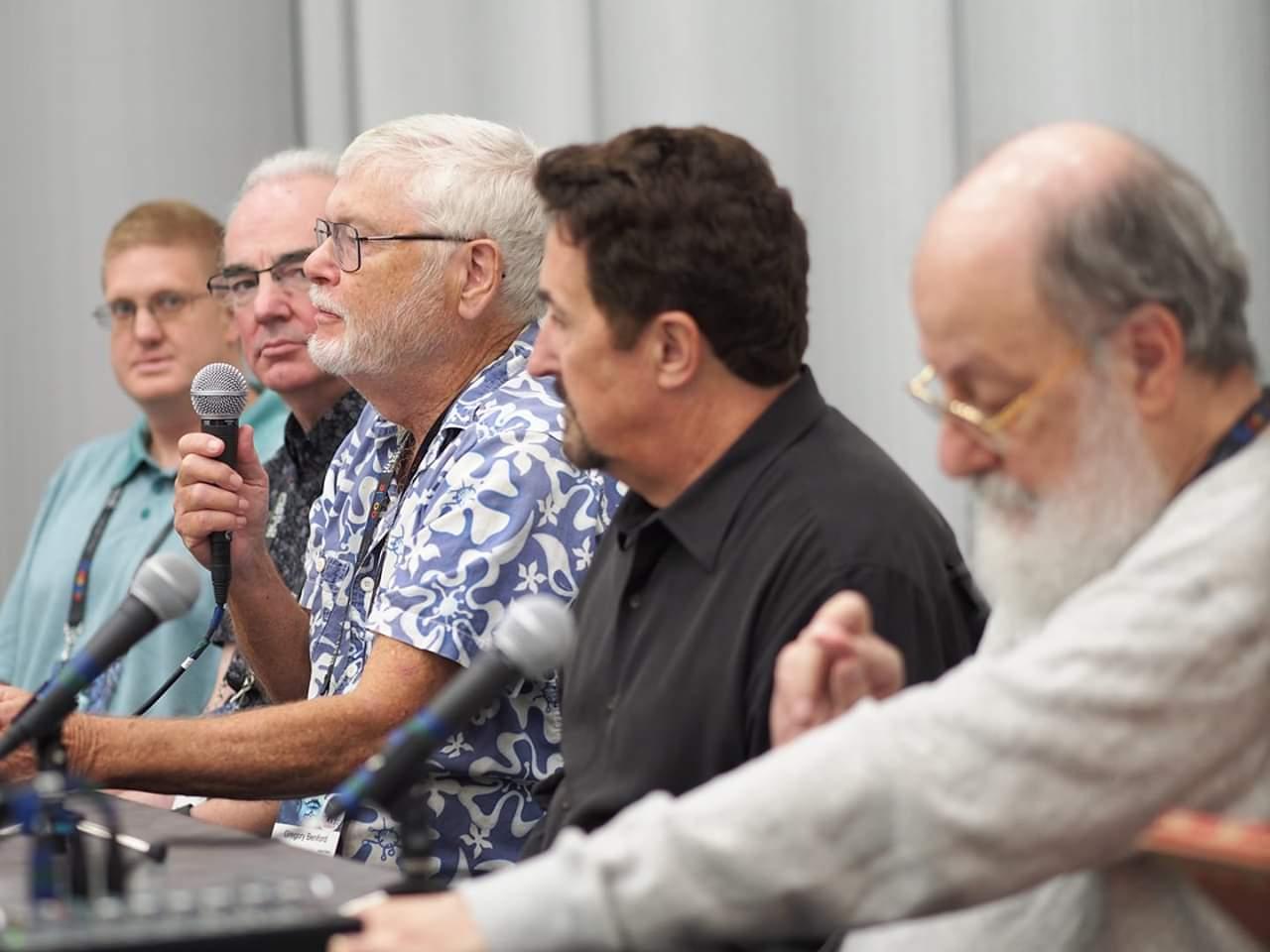 Brent A. Harris, Alan Smale, Gregory Benford, Bryce Zabel (Winner), Harry Turtledove (Winner) Sidewise Awards, WorldCon 18
